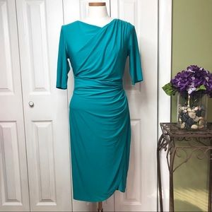 Lauren Ralph Lauren Teal sheath dress